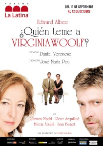 cartel quien teme a virginia woolf