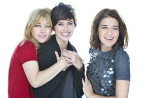 Amparo Larrañaga, Marina San José y María Pujalte. Imagen: Teatro Maravillas