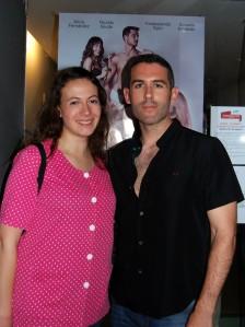 María Villalón y Paco Rodríguez, uno de los directores de Clímax!