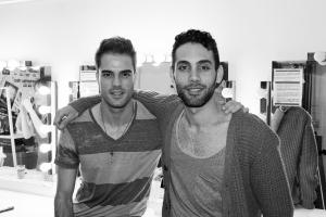 Javier Martínez y Jorge Quesada en el camerino. Fotografía: Mi Butaquita