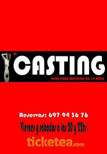 """Cartel de """"El casting"""""""