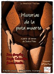 "Cartel de ""Historias de la puta muerte"""