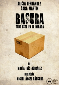 """Cartel de """"Basura"""""""