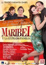 """Cartel de """"Maribel y la extraña familia"""""""