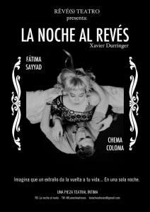 """Cartel de """"La noche al revés"""""""