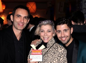 Con Kiti Mánver y Juan Carlos Rubio después de los premios