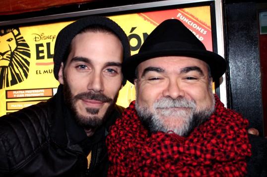 El autor y director Marcelo Soto junto a Iván Santos. Imagen: Mi Butaquita