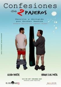 """Cartel de """"Confesiones de dos pajeros"""""""