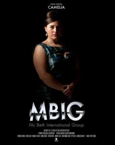 """Inma Cuevas en un cartel de """"MBIG"""""""