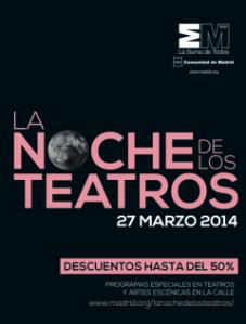 """Cartel de """"La noche de los  Teatros"""""""