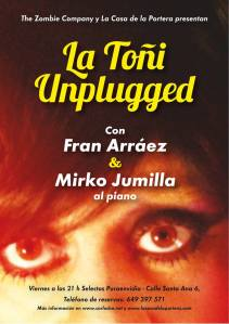 "Cartel de ""La Toñi Unplugged"""