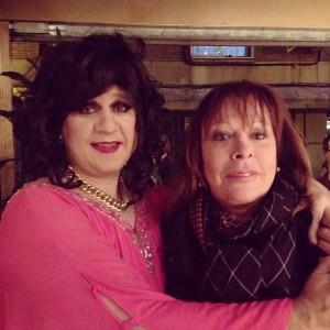 La Toñi y Massiel, quien fue a verla a una de las funciones