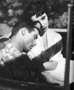 Montgomery Clifft y Elisabeth Taylor