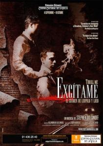 """Cartel de """"Excítame: el crimen de Leopold y Loeb""""."""