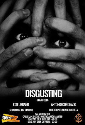 """Cartel de """"Disgusting"""""""